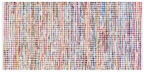 Tapete de poliéster e algodão feito à mão 80 x 150 cm multicolor BELEN