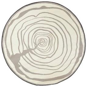 433910 Esschert Design Tapete de exterior 170 cm de diâmetro anéis a crescer