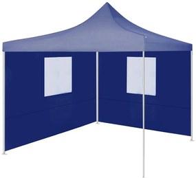 48878 vidaXL Tenda dobrável profissional festas 2 paredes 2x2 m aço azul