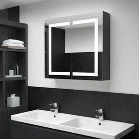 325545 vidaXL Armário espelhado para casa de banho com LED 80x12,2x68 cm