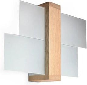 Luz de parede FENIKS 1 1xE27/60W/230V madeira natural