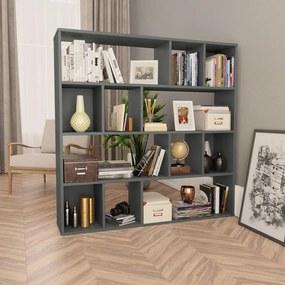 Divisória/estante 110x24x110 cm Contraplacado Cinzento