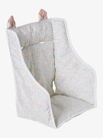 Almofada para cadeira alta, da Vertbaudet branco claro estampado