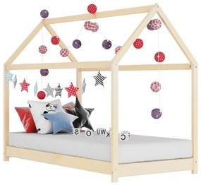 283347 vidaXL Estrutura de cama para crianças 80x160 cm pinho maciço