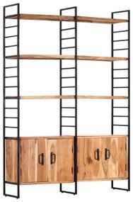 284416 vidaXL Estante c/ 4 prateleiras 124x30x180cm madeira acácia maciça