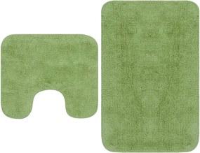 Conjunto tapetes de casa de banho 2 pcs tecido verde