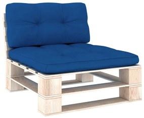 314538 vidaXL Almofadões para sofás de paletes 2 pcs azul-real