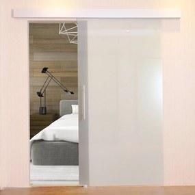 HOMCOM Porta de Correr de Vidro sem Obra Vidro acetinado 205 x 102,5 cm