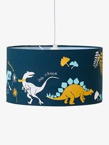 Abajur de teto, Dinossauro azul escuro liso com motivo
