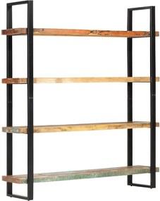 Estante c/ 4 prateleiras 160x40x180cm madeira recuperada maciça