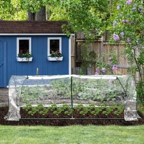 Outsunny Estufa transparente para jardim ou terraço para cultivo de plantas e flores com porta zip 250x100x80cm PVC