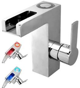 425798 SCHÜTTE Torneira mistur. lavatório LED efeito cascata ORINOCO cromado