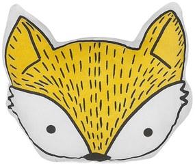 Almofada decorativa de raposa amarela 50 x 40 cm VADODARA
