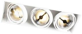 Foco de encastrar branco AR111 3-luzes AR111 - ONEON 111-3 trimless Design,Industrial,Rústico ,Moderno