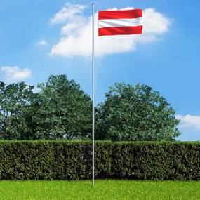 3053315 vidaXL Bandeira da Áustria com mastro de alumínio 6,2 m