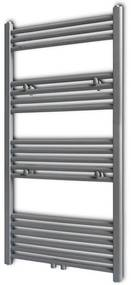 141892 vidaXL Aquecedor toalhas casa de banho liso 600 x 1160 mm cinzento
