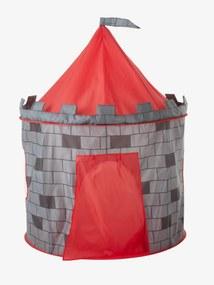 Tenda Castelo cinzento medio liso com motivo