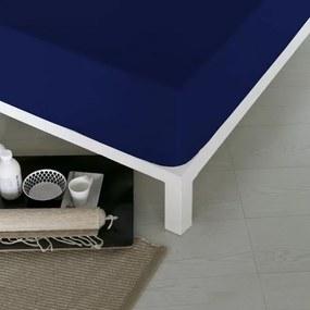 Lençol de baixo ajustável Naturals Azul - Cama de 90 (90 x 190 cm) (S2800066)