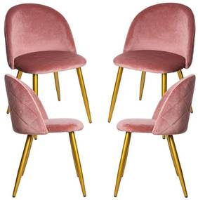 Pack 4 Cadeiras Vint Veludo Golden