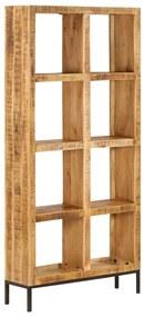 247966 vidaXL Estante 80x25x175 cm madeira de mangueira maciça