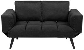 Sofá-cama em tecido preto BREKKE