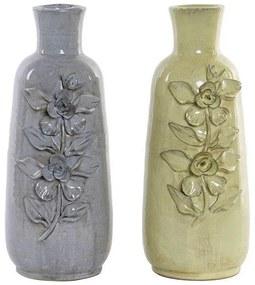 Vaso DKD Home Decor Gerbera Terracota Tradicional (2 pcs) (16 x 14 x 36 cm) (2 pcs)