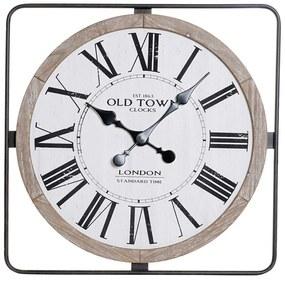 Relógio de Parede DKD Home Decor Loft Metal Madeira MDF (60 x 4.5 x 60 cm)