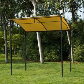 Outsunny Pérgola para Churrasqueira 215x150x220cm de aço poliéster 170 g m2