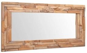 244564 vidaXL Espelho decorativo em teca 120x60 cm retangular