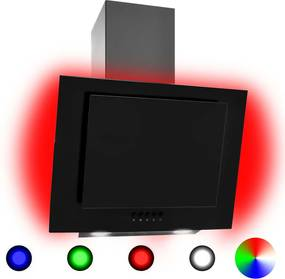 Exaustor RGB LED 60 cm aço inoxidável e vidro temperado