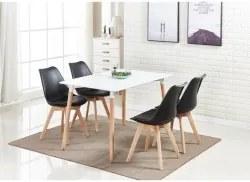 Pack Mesa de Jantar DENVER II + 4 Cadeiras SOFIA II Preto