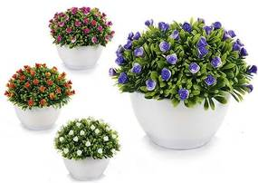 Planta Decorativa Plástico (14 x 12 x 14 cm)