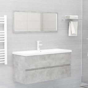 804903 vidaXL 2 pcs conj. móveis casa de banho contraplacado cinzento cimento