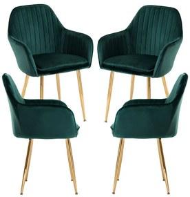Pack 4 Cadeiras Chic Golden