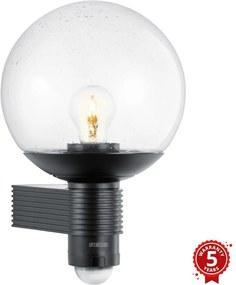 Steinel 611019 - Iluminação exterior com sensor L 400 1xE27/60W/230V IP44 preto