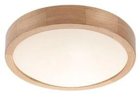 Iluminação de teto OAK SLIM 1xE27/60W/230V carvalho ø 27 cm