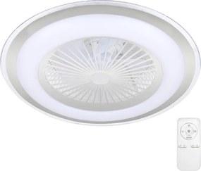 Brilagi - Iluminação LED com regulação e ventoinha RONDA LED/65W/230V prateada