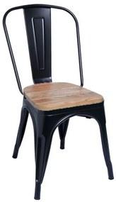 Cadeira Leeds Madeira Natural Cor: Preto Mate