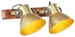 320508 vidaXL Candeeiro de parede industrial 45x25 cm E27 bronze