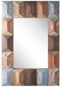 Espelho de parede com moldura multicolor 63 x 90 cm HIZOTE