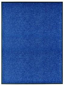 323442 vidaXL Tapete de porta lavável 90x120 cm azul