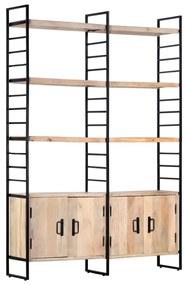 284417 vidaXL Estante c/ 4 prateleiras 124x30x180cm madeira mangueira maciça