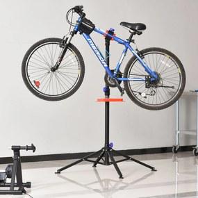 HOMCOM Suporte de Reparo de Bicicleta Dobrável e Estábulo Ajustável a 110-180 cm com 4 Pernas Preto