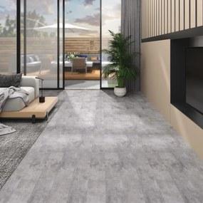 146575 vidaXL Tábuas de soalho PVC autoadesivo 4,46 m² 3 mm castanho cimento