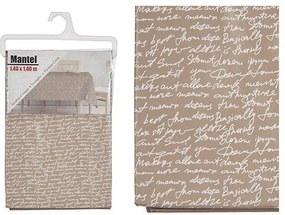 Toalha de Mesa Letras Plástico (140 x 140  cm)