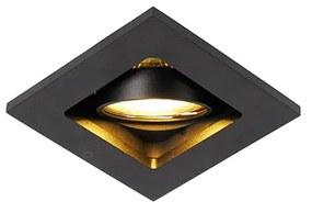 Conjunto de 10 focos embutidos pretos ajustáveis - Qure Design,Moderno
