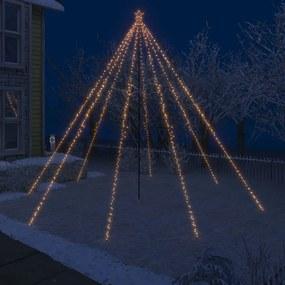 51296 vidaXL Iluminação cascata p/ árvore Natal int/ext 800 luzes LED 5 m