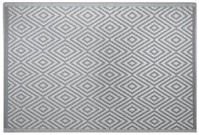 Tapete de exterior 120 x 180 cm cinzento escuro SIKAR