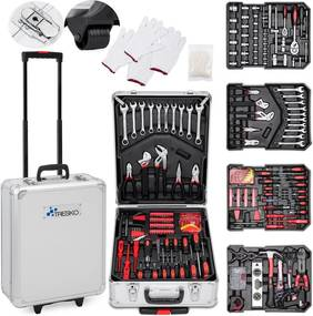 TRESKO® 949 peças Caixa de ferramentas de prata