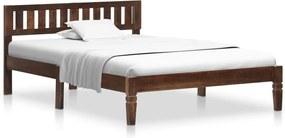 Estrutura de cama 120 cm madeira de mangueira maciça